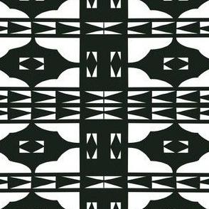 Black and White Tribal