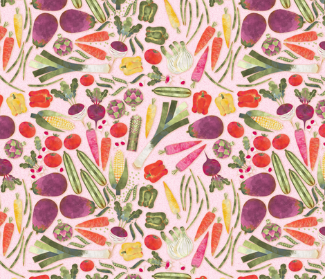 Légumes du jardin fabric by nadja_petremand on Spoonflower - custom fabric