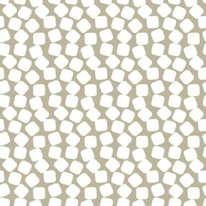 Squishy White Marshmallows on a Taupe Background