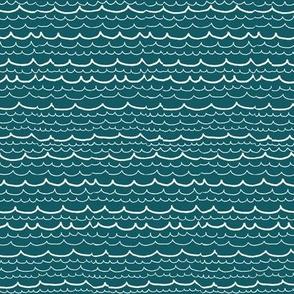 waves on teal