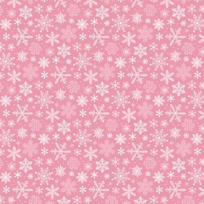 Snowflakes Christmas on Pink Tiny Small