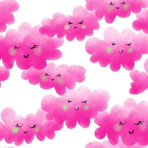 Happy Little Clouds in Pink