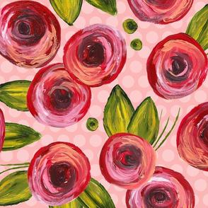 Painted Peonies - Pink