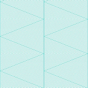 geo cool line work triangles blue