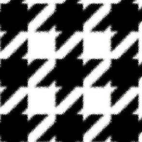 Zebra Houndstooth Black and White