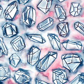 sky with diamonds - watercolor crystals