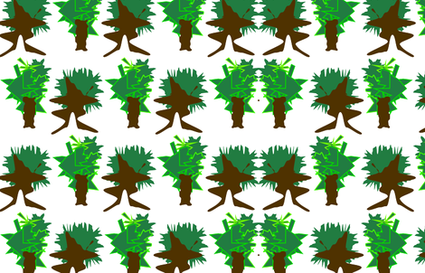 Funny Trees fabric by jasminenotyourgeneration_ on Spoonflower - custom fabric