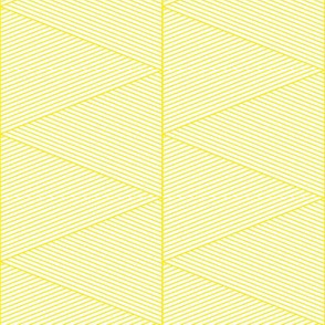 geo cool line work triangles yellow