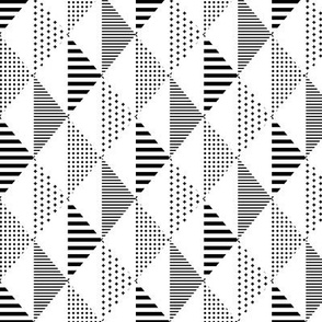 geo cool triangles black and white