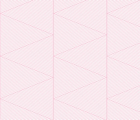geo cool line work triangles pink LG fabric by misstiina on Spoonflower - custom fabric