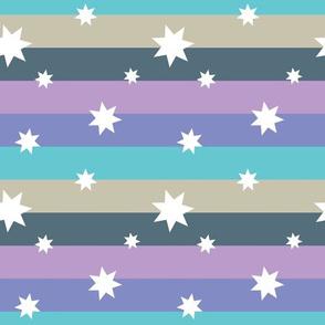 Pastel Purple Rainbow with Stars