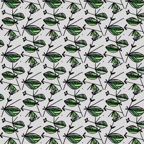 Striped leaves/stems