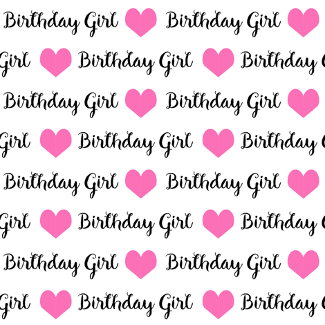 birthday girl fabric and wrap fabric by charlottewinter on Spoonflower - custom fabric