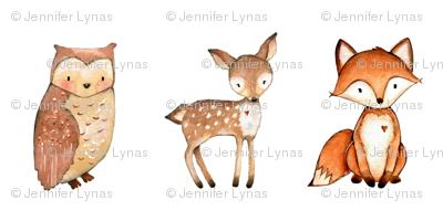 woodland creatures plush