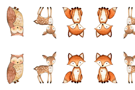 woodland creatures plush fabric by shesalioness on Spoonflower - custom fabric