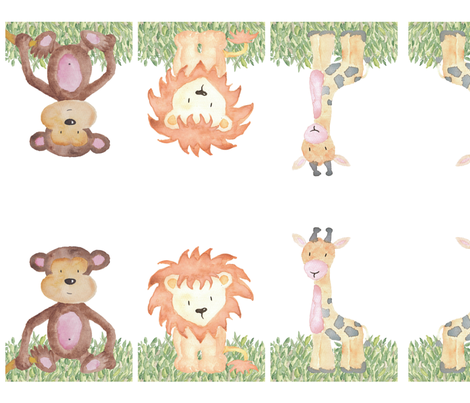 Jungle plush fabric by shesalioness on Spoonflower - custom fabric