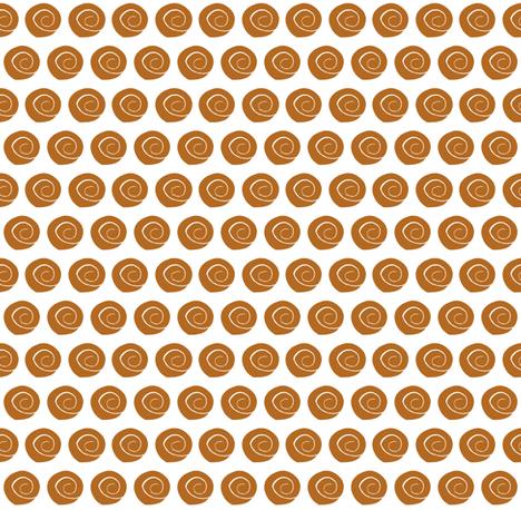 tiny dark coral orange sea shells fabric by ali*b on Spoonflower - custom fabric