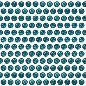 tiny teal blue sea shells