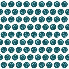 teal  sea shells