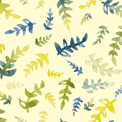 Summer Leaves fabric by bexdsgn on Spoonflower - custom fabric