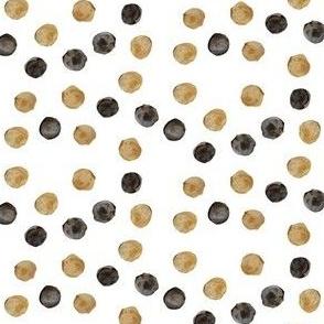 tan and black polka dots