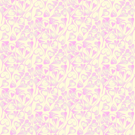 Teeny Tiny Pastel Sweethearts on Magnolia Cream fabric by rhondadesigns on Spoonflower - custom fabric