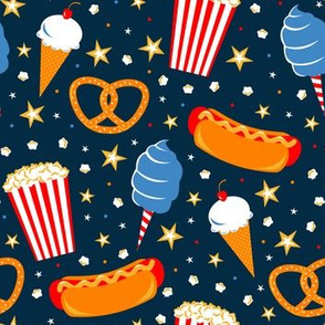 Circus Treats (Navy)
