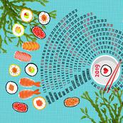 2019 Calendar Celebration of Sushi
