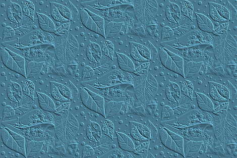Linocut for a Block Print - cerulean blue fabric by gargoylesentry_ on Spoonflower - custom fabric