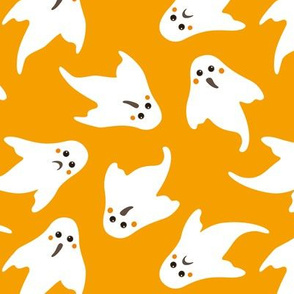 ghosts on orange