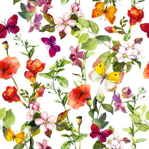 Butterfly Meadow Florals
