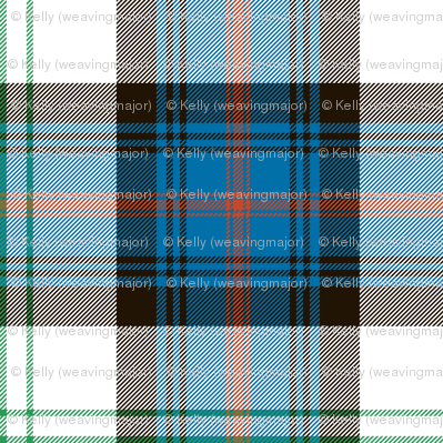 "Sutherland Old dress tartan, 6"", antique colors"