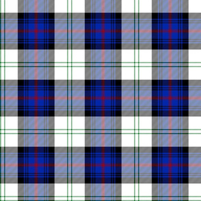"Sutherland Old dress tartan, 6"", modern colors"