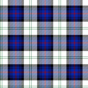 "Sutherland Old dress tartan, 6"", modern colors"