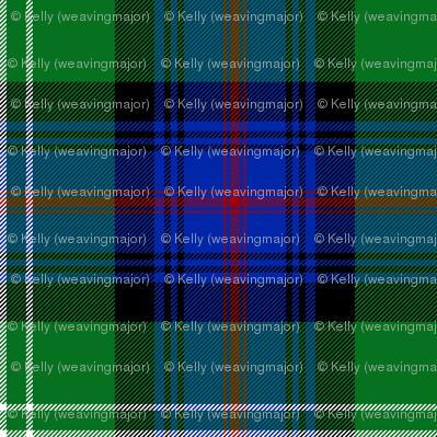 "Sutherland Old tartan, 6"", modern colors"