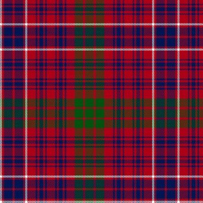 "MacRae red tartan #2, 6"" muted colors"