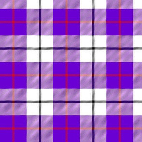 MacRae dress purple tartan, 3""