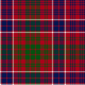 "MacRae red tartan #1, 12"" dark"