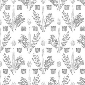 Sukkot Toile de Jouy, Black on White