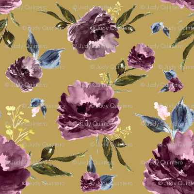 "6"" Amaranda Blooms - Gold"