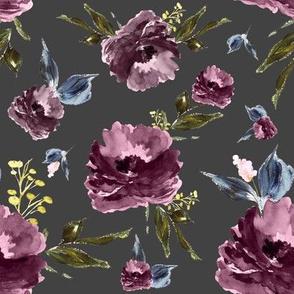 "8"" Amaranda Blooms - Grey"