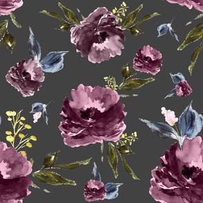 "21"" Amaranda Blooms - Grey"