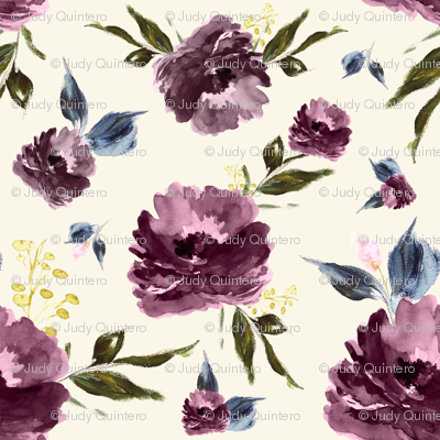 "4"" Amaranda Blooms - Ivory"