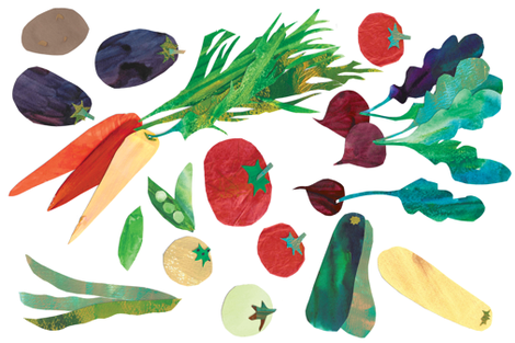 Eat Your Veg fabric by hannah_beisang on Spoonflower - custom fabric