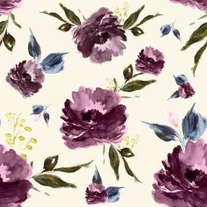 "8"" Amaranda Blooms - Ivory"