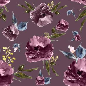"""21"""" Amaranda Blooms - Plum"""