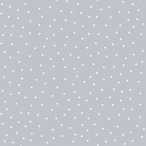 snowy dots grey :: cheeky christmas
