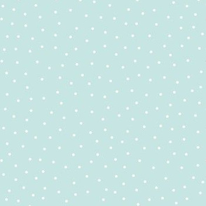 snowy dots light teal :: cheeky christmas