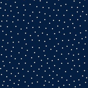 snowy dots navy blue :: cheeky christmas
