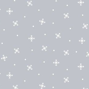 snowy flakes grey :: cheeky christmas
